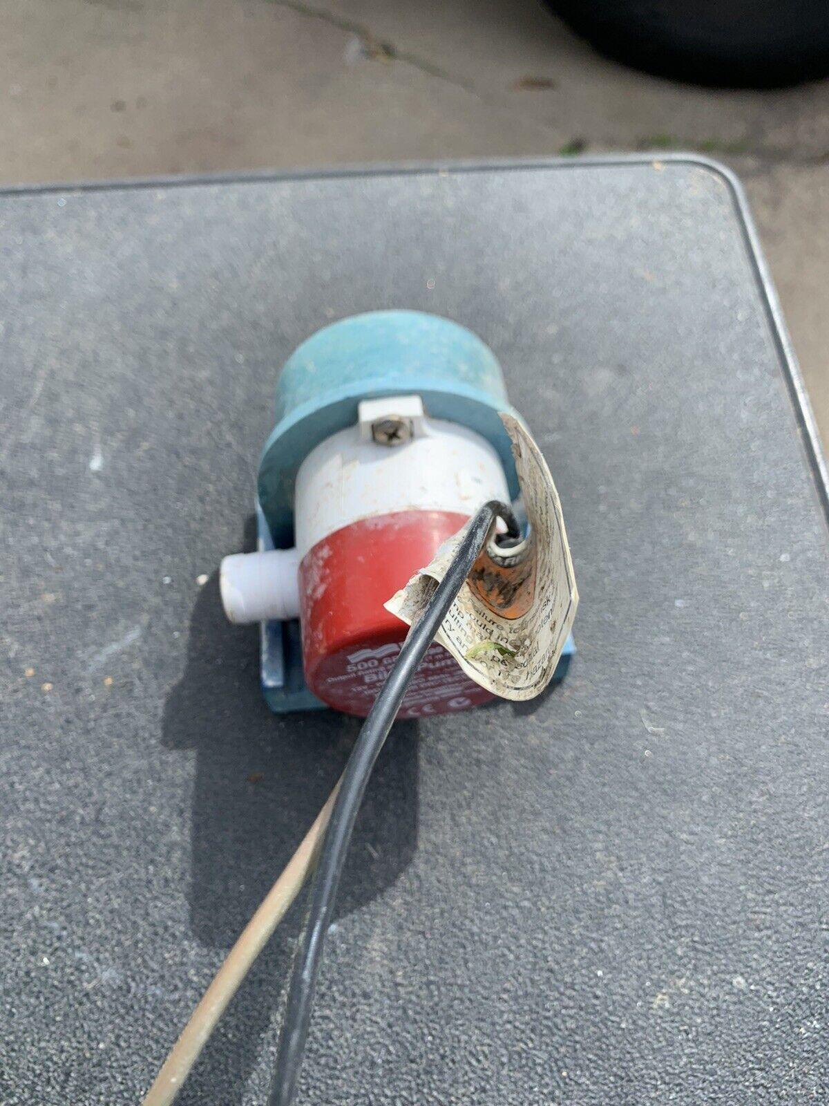 Rule 500GPH Electronic Sensing Bilge Pump 25SA 12V