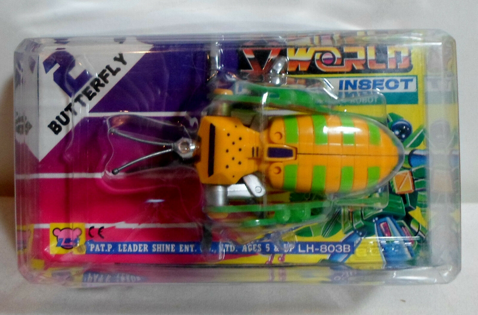 LH VTG 80's V WORLD FIGHTING INSECT 2 - BUTTERFLY BUTTERFLY BUTTERFLY TRANSFORMER ROBOT MIP 4dc430