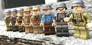 WW2-Military-Army-Soldier-MiniFigures-Japan-France-Italian-GB-U-S-Legos-Comp