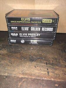 Lot of 4 Elvis Presley -Cassette Tapes- Tv Special, Golden Records, Gospel