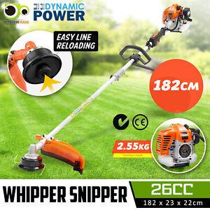 26cc Pole Brush Cutter Trimmer Line Whipper Snipper Tree Pruner Multi Garden