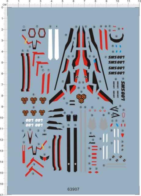 Super Detail Up 1//48 VF-1A Strike Battroid Valkyrie Model Kit Water Slide Decal