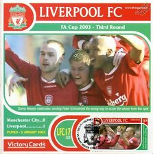 Liverpool 2002-03 Man City (Danny Murphy) Football Stamp Victory Card #217