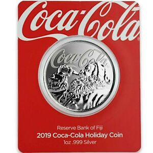 2019-1oz-999-Silver-Coca-Cola-Holiday-Coin-Limited-Mintage-Collectible-A465