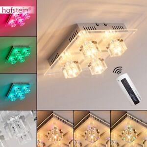 Plafonnier-LED-Changeur-de-couleur-Lustre-Lampe-a-suspension-Transparente-Verre