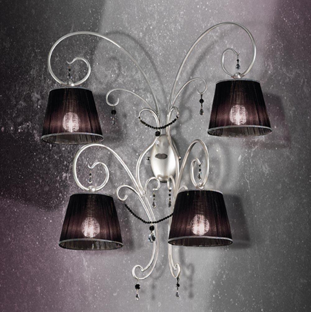 comprare a buon mercato Applique classico di design argento con paralumi coll. coll. coll. BELL venezia 1801 A4L  outlet in vendita