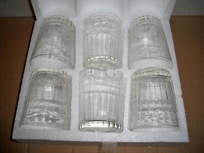 Longdrinkglas-Set 6-tlg.klar Recyclingglas Handmade Wasserglas Gläser Saftglas