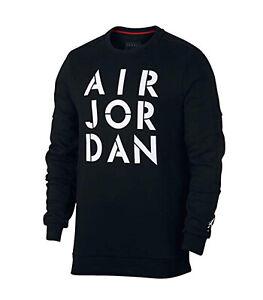 ae6032aced57 Nike Men s Air Jordan JUMPMAN HYBRID Fleece Sweatshirt Black 939988 ...
