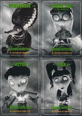 Disney Tim Burton Frankenweenie Lot Of 4 Promo Cards Elsa Victor Weird Girl Pers Ebay