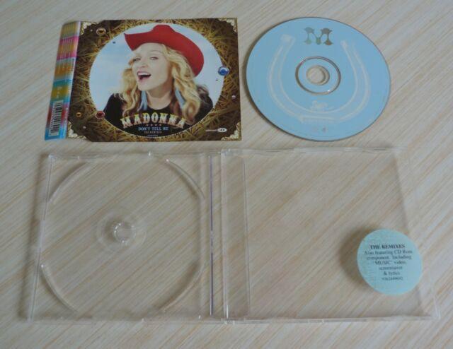 RARE MAXI CD 5 TITRES 2000 THE REMIXES DON'T TELL ME MADONNA