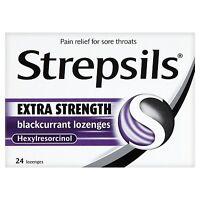 Strepsils Anaesthetic Formula Blackcurrant 24 Lozenges