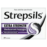 Strepsils Anaesthetic Formula Blackcurrant 24 Lozenges