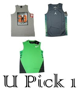 4395a2254872f Jordan Tank Top Nike Sports Athletic Sleeveless Muscle Shirt T Youth ...