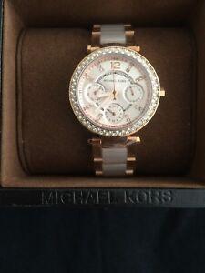 50331287cdc3 NEW MICHAEL KORS MK6110 ROSE GOLD MINI PARKER WOMENS WATCH UK SELLER ...