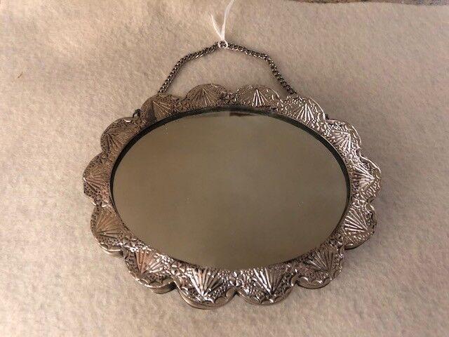 Vintage 925 Sterling Turkish Wedding Mirror - image 11
