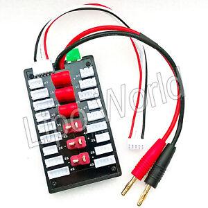 6x-DEANS-2S-3S-4S-XH-parallel-Lade-Balancer-Board-Adapter-Lipo-Akku-imax-Modell