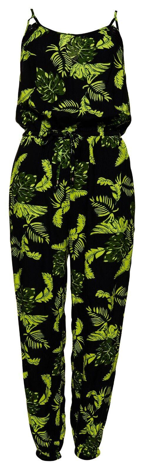 SUPERDRY  LAYNE TROPICAL JUMPSUIT Tropical Foliage Jumpsuit