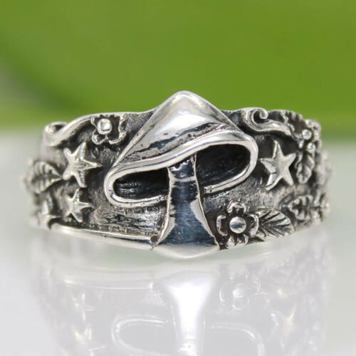 Vintage Gothic Punk Skull Ring Cool Men/'s Band Stainless Steel Rings Jewelry