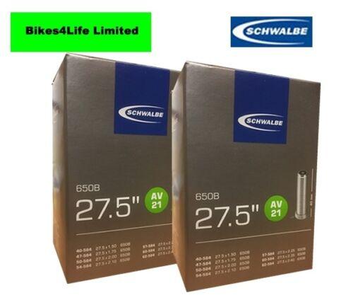 SCHWALBE AV21-27.5 x 2.25 BIKE INNER TUBE SCHRADER VALVE QUANTITY RATE OPTIONS