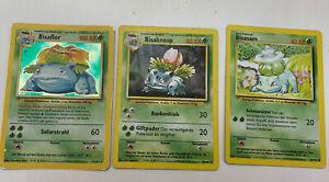 Pokemon BISAFLOR, bisaknosp Bisasam Set Base 15/102 HOLO RARE 1998 German