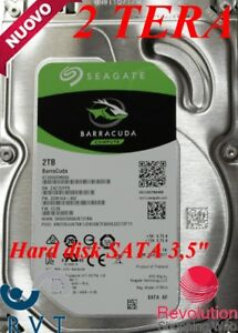 "HARD DISK 2 TERA 7200 RPM SATA 3.5""Per DVR CCTV PC CCTV HD VIDEO TOP QUALITY"