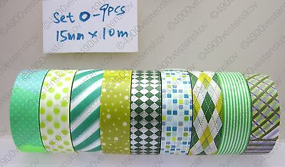 made in japan mt assorted mixed washi paper masking tape set 15mm x 10m
