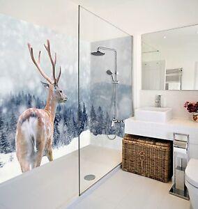 Image Is Loading 3D Deer Animal WallPaper Bathroom Print Decal Wall