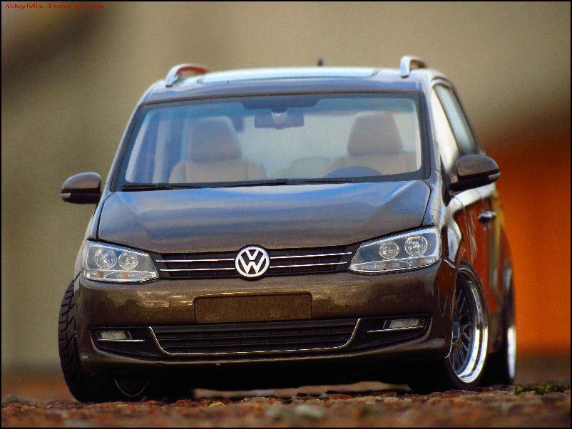 1 18 Tuning VW Sharan TDI Brandy Marron-mettalic-avec BBS LEEMANS Alu-Jantes