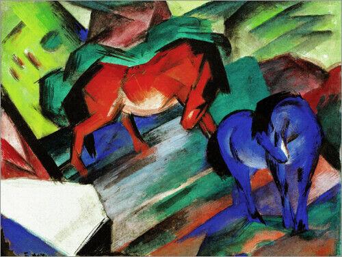 Franz Marc Premium-Poster Rotes und blaues Pferd