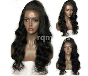 Pre-Plucked-Brazilian-Virgin-Human-Hair-lace-Wigs-straigth-Wave-Lace-Front-Wig