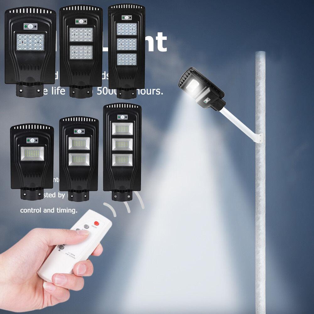 20 30 40 60   100W Solaire à LED Capteur Mouvement Jardin Mur Extérieur Rue