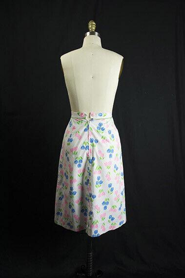 Vintage Tulip Print Skirt SweetNovelty Print Past… - image 6
