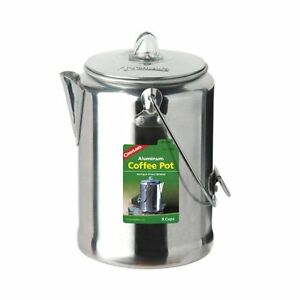 Coghlans-9-Cup-Aluminum-Coffee-Pot-Silver