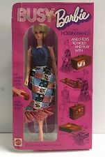 Vintage Barbie Doll BUSY BARBIE WITH HOLDING HANDS NRFB MIB MIP MOC