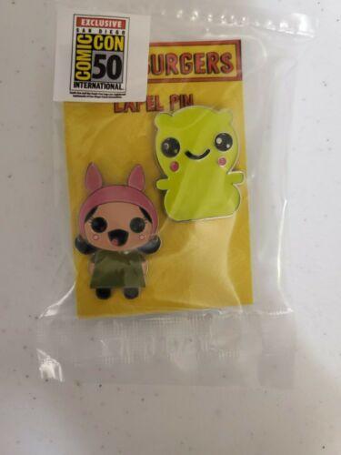 SDCC 2019 UCC Bob's Burgers Kuchi Kopi /& Louise Kawaii Lapel Pin Set Exclusive
