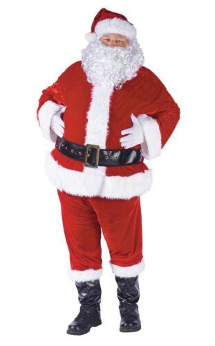Standard 40-48 Complete Velour Santa Claus Suit Adult Costume