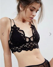 33181e5881 People Adella Lace Bralette Bra in Black 36 - Size Medium