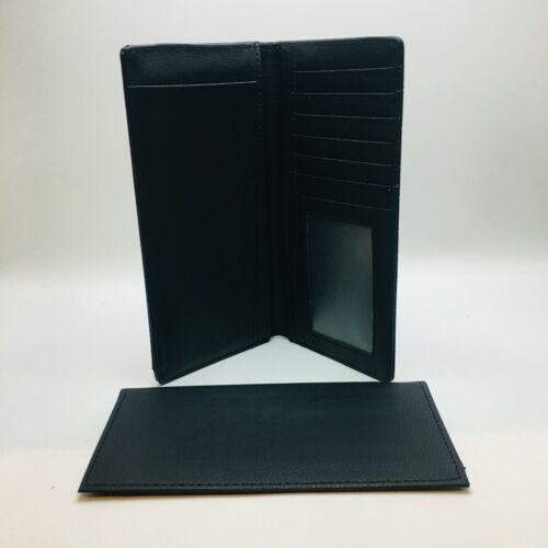 Men/'s Western Style Bi-Fold Wallet,Cowboy Rodeo Wallet Genuine Leather Black clr