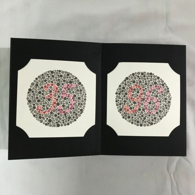 Three Ishihara Color Blindness Test Book Available in 24 Plates | eBay