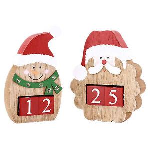 Theme Machine Chunky Xmas Countdown Advent Calendar Blocks Santa Snowman