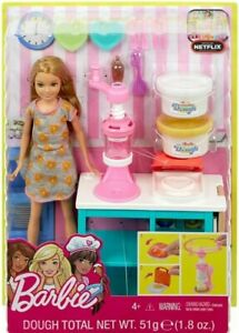 Barbie-Sisters-Stacie-Doll-Breakfast-Playset-Dough-and-Waffle-Maker-New