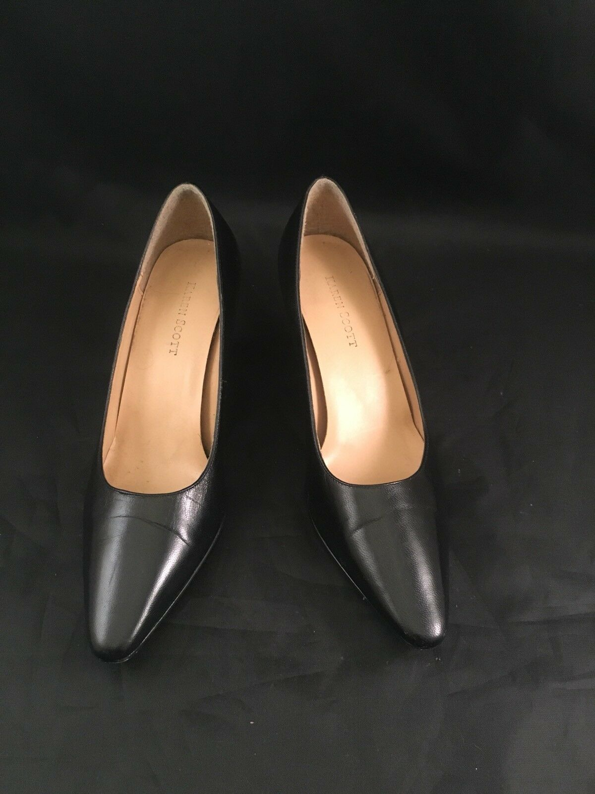 Karen Black Scott Clancy Womens Shoes Black Karen Size 7 1/2M Heels c65ef5