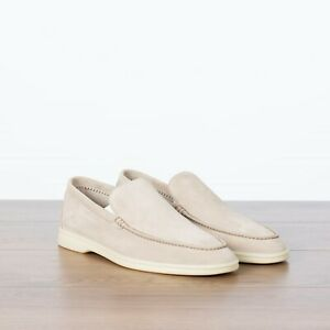 LORO-PIANA-825-NEW-Summer-Walk-Moccasin-In-Classic-Beige-Suede-Calfskin