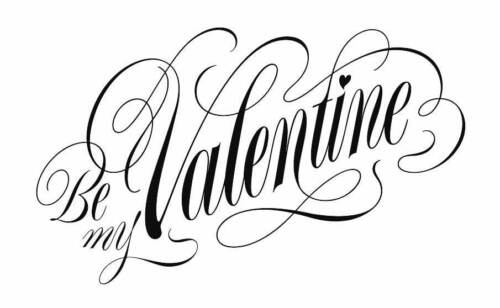 Be My Valentine Unmounted Rubber Stamp by Stamp Addicts