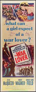THE-WAR-LOVER-Rolled-Insert-14x36-Inch-Movie-Poster-STEVE-MCQUEEN-ROBERT-WAGNER