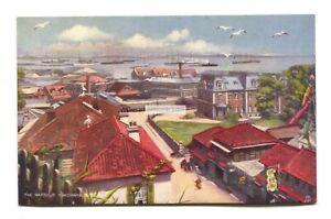 Yokohama-Japan-The-Harbour-old-Tuck-postcard-No-6463