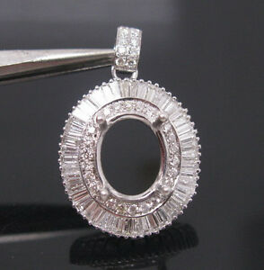 Oval-7-9mm-Solid-18Kt-White-Gold-Natural-1-52ct-Diamond-Semi-Mount-Pendant
