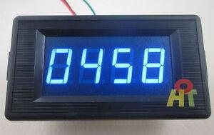 dc24v blue 4 digital led counter meter panel plus. Black Bedroom Furniture Sets. Home Design Ideas
