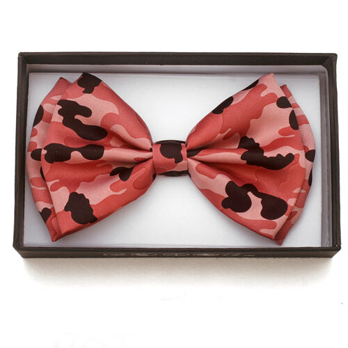 New Unisex Pink Camouflage Bow Ties Bowtie Camo Hunting