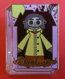 Coraline-Pin-Boxed-Doll-Enamel-Brooch-Metal-Badge-Lapel-Cult-Movie